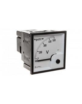 Woltomierz 1-fazowy analogowy pulpitowy 72x72mm 0-500V kl.1, 5 VLT 16005