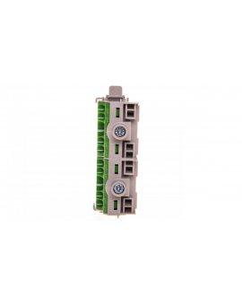 Listwa zaciskowa PE na szynę 80 A 2x25mm2 + 8x4mm2 Cu zielono-szara FC PE 10 26001205