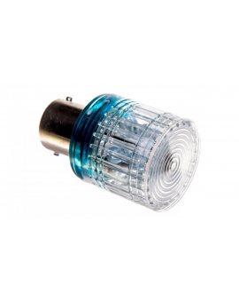 Dioda LED Ba15s 220V AC niebieska do kolumn sygnalizacyjnych T0-IKML220M