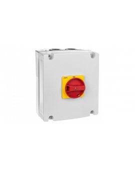 Obudowa do rozłączników GA063SA, GA063A-GA100A i GA080D, żółto/czerwone pokrętło GAZ2