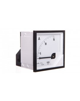 Amperomierz analogowy 72x72mm 15/5A N IP50 E408 pozycja pracy C3 K=90 st. bez atestu KJ EA17N E40800000000