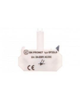 Blok podświetlający LED uniwersalny EF22LB błyskający bezbarwny 24-230V AC/DC W0-Ł EF22LB B