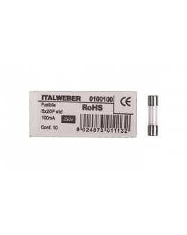 Wkładka aparatowa 5x20mm 0, 1A szybka (F) L520FK00-100 /10szt./