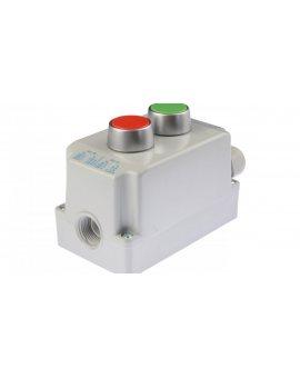 Kaseta sterownicza 2-otworowa z przyciskami zielony/czerwony IP65 ST22K2\01-1