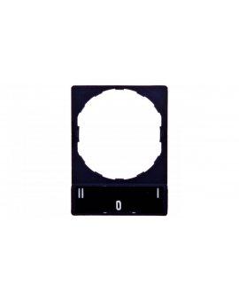 Szyld opisowy 30x40mm z etykietą 8x27mm I-0-II ZBY2186