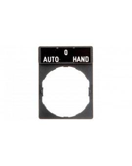 Szyld opisowy 30x40mm z etykietą 8x27mm AUTO-0-HAND ZBY2385