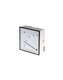 Amperomierz analogowy tablicowy 100/5A do przekładnika 100/5 144x144mm IP50 C3 K=90 st. EA12N E41600000000