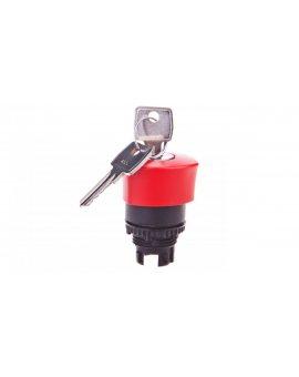 Napęd przycisku grzybkowego czerwony z kluczkiem 023891