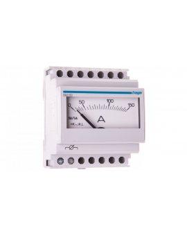 Amperomierz analogowy przekładnikowy tablicowy 0-150A klasa 1, 5 70x85mm SM150