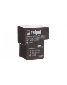 Przekaźnik przemysłowy 1P 40A 24V AC PCB R40N-3011-85-5024 2614832