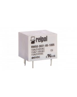 Przekaźnik miniaturowy 1Z 10/15A 5V DC PCB RM50-3021-85-1005 2611660
