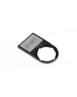 Tabliczka opisowa START 50x30mm czarna prostokątna M22S-ST-GB1 216495