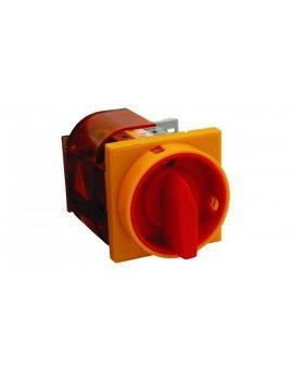 Rozłącznik główny z czołem żółto-czerownym IP65 zamykane ŁK32RG\P08