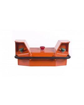 Pulpit sterowania dwuręcznego 2 przyciski  czerowony STOP 1R ze stopką T0-CEKPAB