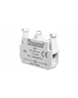 Element podświetlający biały 100-230V AC do przycisków B LED T0-BB