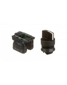 Przełącznik 3 położeniowy pokrętło 22mm czarny 2Z bez samopowrotu XB5AD33