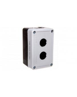 Kaseta sterownicza 2-otworowa fi22 pusta czarno-szara IP65 T0-PY2BOS