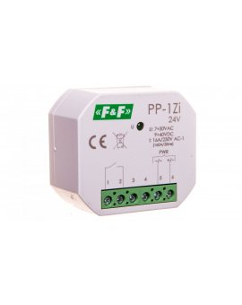 Przekaźnik elektromagnetyczny 1Z 16A 7-30V AC/9-40V DC (160A/20ms) PP-1Zi-24V