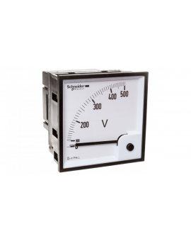 Woltomierz 1-fazowy analogowy 0-500V pulpitowy 96x96mm kl.1, 5 VLT 16075