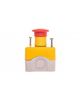 Kaseta z przyciskiem bezpieczeństwa przez obrót 1R żółta IP65 XALK178