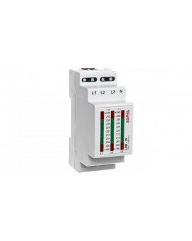 Wskaźnik napięcia modułowy 3-fazowy L1-N/L2-N/L3-N 195-245V LDM-30 EXT10000031