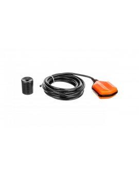Wyłącznik pływakowy z przewodem PVC 5m do wody czystej i szarej z przeciwwagą LVFSP1W05