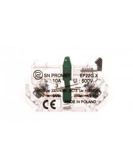 Element łaczeniowy zwierny EF22GX Au złocony do przycisków sterowniczych serii NEF22 i NEK22M W0-Ł EF22GX-AU
