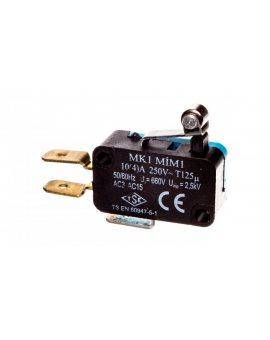 Wyłącznik krańcowy miniaturowy 1CO dźwignia krótka z metalową rolką T0-MK1MIM1