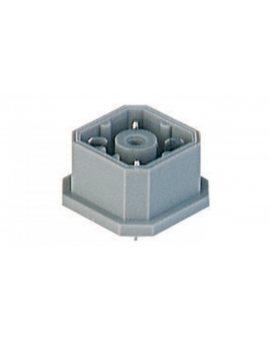 Złącze zasilające panelowe męski montaż tylny PCB piny 4 (3+PE) 230 V AC/DC 10A G 30 A 3 M grau