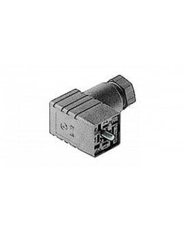 Gniazdo kablowe zaworowe typ C przyłączeniowe z centralną śrubą M2, 5x27 3 + PE PG 7 tłumik kablowy GDSN 307 grau