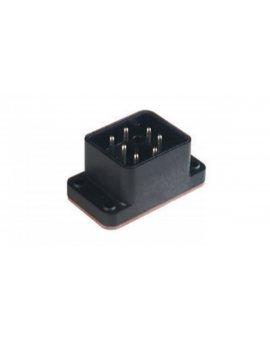 Złącze zasilające do samokonfekcjonowania żeński kątowy 7-pinowa 6+PE centralnie przykręcane 250 V AC/DC GO 610 FA M