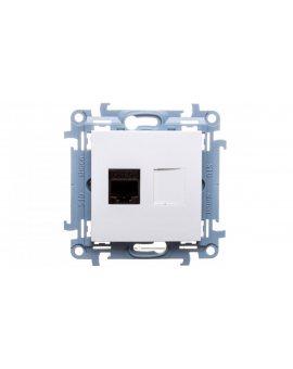 Simon 10 Gniazdo komputerowe pojedyncze RJ45 kat.5e białe C51.01/11