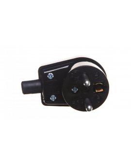 Wtyczka kątowa z uziemieniem 16A 250V czarna WB-6 3300-02
