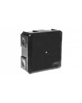 Puszka n/t 6-otworowa, czarna EP-LUX IP55 0226-02