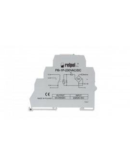Przekaźnik interfejsowy 1P 6A 230V AC/DC AgSnO2 PI6-1P-230VAC/DC 858559