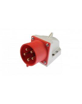 Wtyczka odbiornikowa 32A 5P 400V czerwona IP44 525-6
