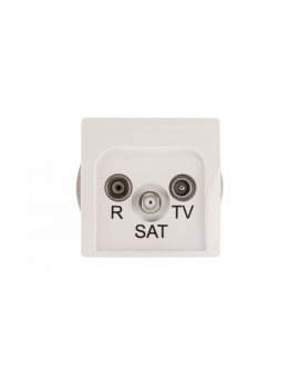 Simon Basic Gniazdo antenowe RD/TV/SAT końcowe białe BMZAR-SAT1.3/1.01/11