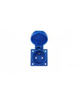 Gniazdo tablicowe 10/16A 2P+Z 230V niebieskie IP54 1040-0b
