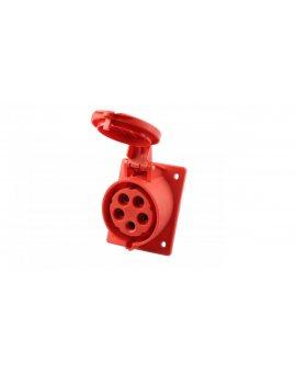Gniazdo tablicowe skośne 32A 5P 400V /80x97/ czerwone IP44 TWIST 425-6