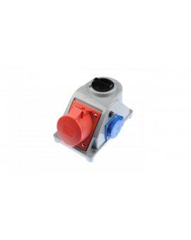 Gniazdo stałe z wyłącznikiem 0-1 32A 5P 400V + 2P+Z 230V IP44 COMBO-POL 96062541W