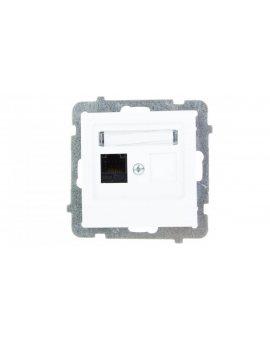AS Gniazdo komputerowe pojedyncze RJ45 kat.5e MMC białe GPK-1G/K/m/00