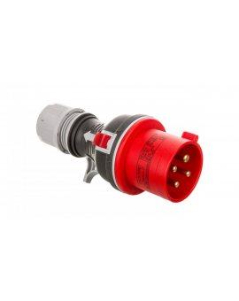 Wtyczka przenośna prosta 4P 32A 400V czerwona TWIST WPP 32/4 IP-44 922076