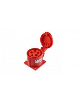 Gniazdo tablicowe 32A 5P 400V /75x75/ czerwone IP44 TWIST 325-6f7