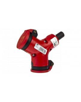 Rozgałęźnik podwójny 2P+Z czerwony PC-ABS IP44 24212-r
