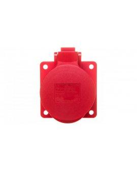 Gniazdo tablicowe 16A 5P 400V /75x75/ czerwone IP44 TWIST 315-6f7