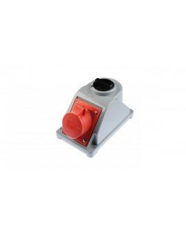 Gniazdo stałe z wyłącznikiem 0-1 16A 5P 400V IP44 COMBO-POL 96061540W