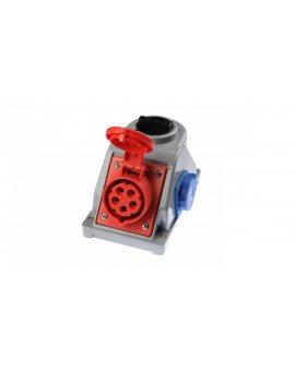 Gniazdo stałe z wyłącznikiem 0-1 16A 5P 400V + 2P+Z 230V IP44 COMBO-POL 96061541W