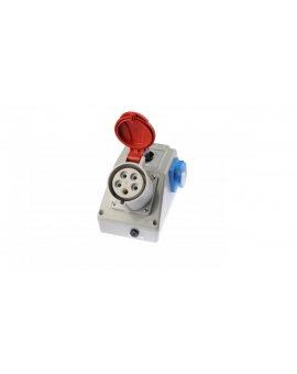 Zestaw instalacyjny z gniazdem 32A 5P+2P+Z (0-1) czerwony ZI05\R441
