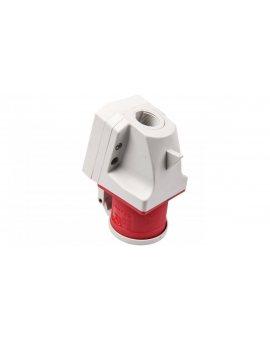 Wtyczka odbiornikowa z klapką 32A 5P 400V czerwona IP44 525-6d