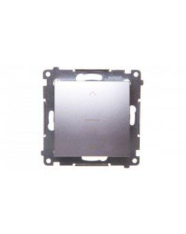 Simon 54 Premium Łącznik żaluzjowy trójpozycyjny 1-0-2 srebrny matowy DZW1K.01/43